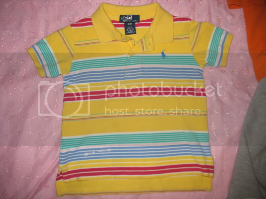 2t Ralph Lauren shirt small bleach spots on bottom corner Image